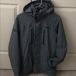 "Marmot men's ""membrain"" insulated gray coat"